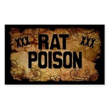 Rat Poison Bottle Label Decal