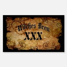 Witches Brew Bottle Label Decal