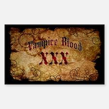 Vampire Blood Bottle Label Decal