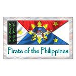 Filipino Pirate Banner (Rectangular Sticker)