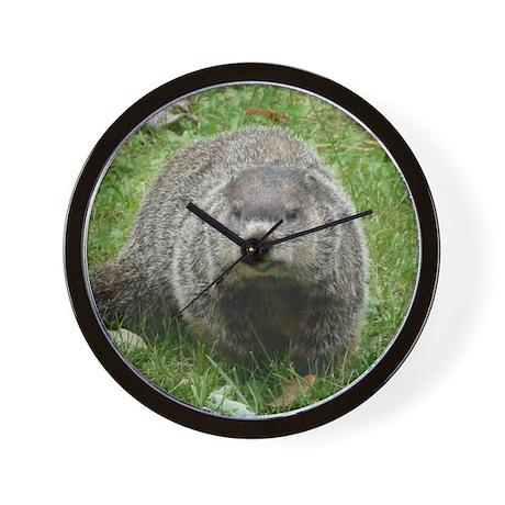 Groundhog Eating Wall Clock