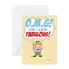 OMG Greeting Card