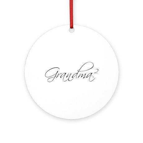 Grandma Squared Ornament (Round)