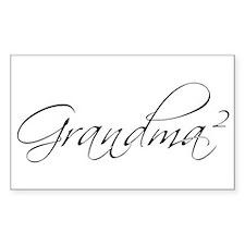 Grandma Squared Rectangle Decal