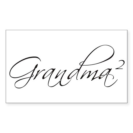 Grandma Squared Rectangle Sticker