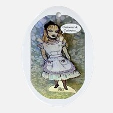 Alice 'Curiouser' Ornament (Oval)