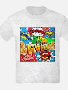 I'm Five Comic Book T-Shirt