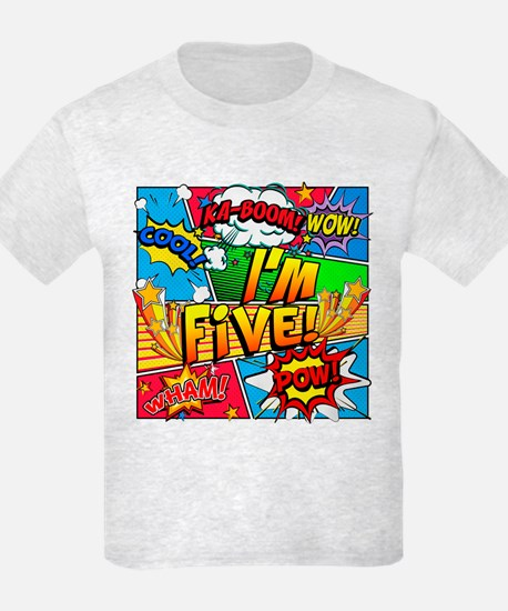I'm Five Comic Book T-Shirt