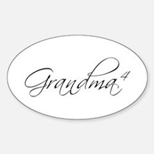 Grandma of 4 Oval Decal
