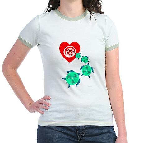 Follow your Heart Turtle Jr. Ringer T-Shirt