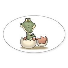 Alligator Baby Hatching Oval Decal