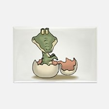 Alligator Baby Hatching Rectangle Magnet