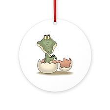 Alligator Baby Hatching Ornament (Round)