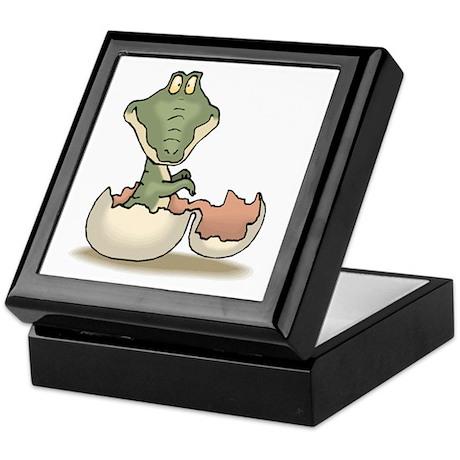 Alligator Baby Hatching Keepsake Box