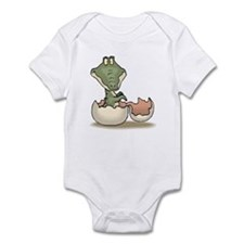 Alligator Baby Hatching Infant Bodysuit