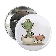 """Alligator Baby Hatching 2.25"""" Button"""