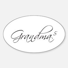 Grandma of 5 Oval Decal