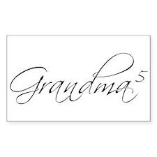 Grandma of 5 Rectangle Decal