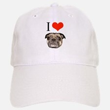 i <3 Pugs Baseball Baseball Cap