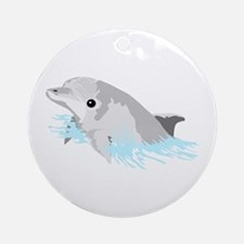 Beautiful Dolphin! Ornament (Round)