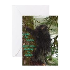 Alaska Porcupine Long of Toot Greeting Card