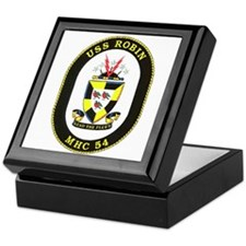 USS Robin MHC 54 Navy Ship Keepsake Box