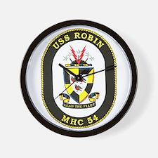 USS Robin MHC 54 Navy Ship Wall Clock