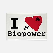 I Love Biopower Rectangle Magnet