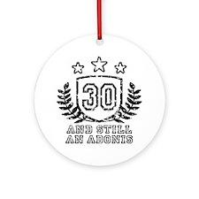 30th Birthday Ornament (Round)