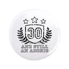 """30th Birthday 3.5"""" Button"""