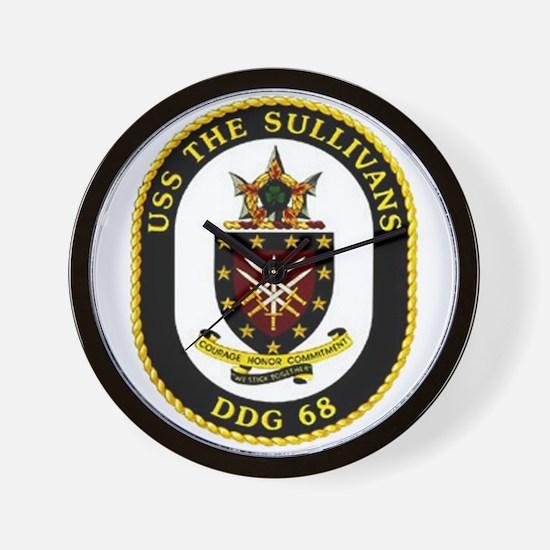 USS The Sullivans DDG 68 US Navy Ship Wall Clock