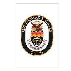 USS Thomas S. Gates CG 51 US Navy Ship Postcards (