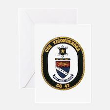 USS Ticonderoga CG 47 USS Navy Ship Greeting Card