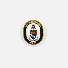 USS Ticonderoga CG 47 USS Navy Ship Mini Button
