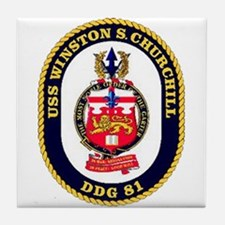 USS Winston S. Churchill DDG 81 US Navy Ship Tile