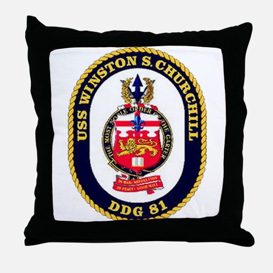USS Winston S. Churchill DDG 81 US Navy Ship Throw