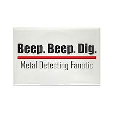 Beep Beep Dig Rectangle Magnet