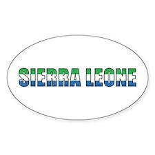 Sierra Leone Oval Decal
