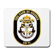 USS Cape St. George CG 71 US Navy Ship Mousepad