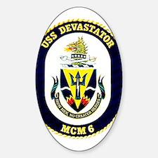 USS Devastator MCM 6 USS Navy Ship Oval Decal