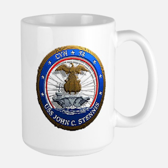USS John C. Stennis CVN 74 USS Navy Ship Large Mug