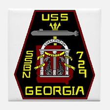USS Georgia SSBN 729 US Navy Ship Tile Coaster