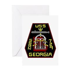 USS Georgia SSBN 729 US Navy Ship Greeting Card