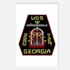 USS Georgia SSBN 729 US Navy Ship Postcards (Packa