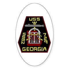 USS Georgia SSBN 729 US Navy Ship Oval Decal