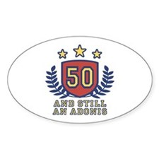 50th Birthday Oval Decal