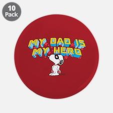"Peanuts Super Dad 3.5"" Button (10 pack)"