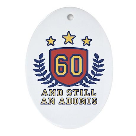 60th Birthday Oval Ornament