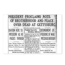 Lincoln's Gettysburg Address News Coverage Postcar