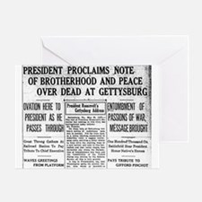 Lincoln's Gettysburg Address News Coverage Greetin